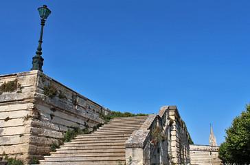 escaliers - esplanade du Peyrou - Montpellier