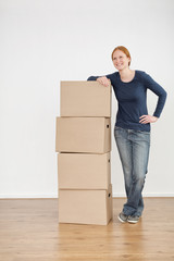 Happy Woman Moving In