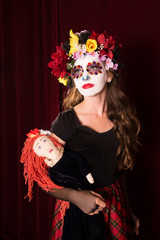 Day of The Dead Child with Doll