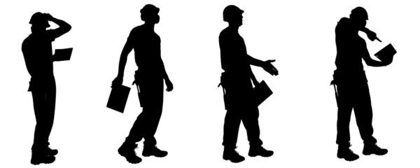 Vector silhouettes man.