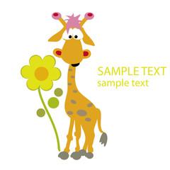 Giraffe, Grußkarte