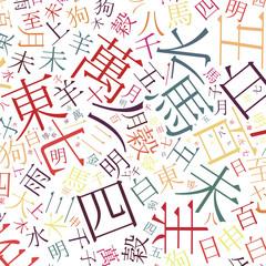 chinese alphabet background