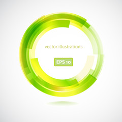 Abstract line color design element .  Vector illustration