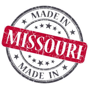 made in Missouri red round grunge isolated stamp