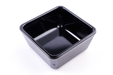 Empty black bowl