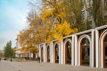 The city square befor entrance to the Tretyakov Art Gallery