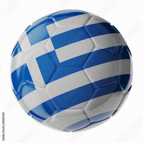 Soccer ball. Flag of Greece
