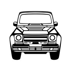 Car icon. Isolated on white background. Vector EPS10.