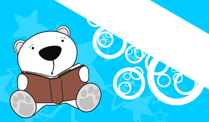 polar bear reading background