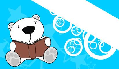 polar bear reading background