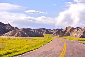 Wall Mural - Badlands Road