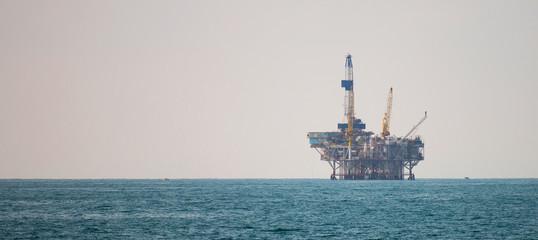 Oil platform in the pacific ocean