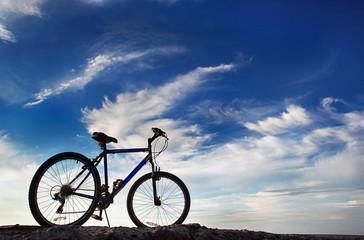 Bike under blue sky