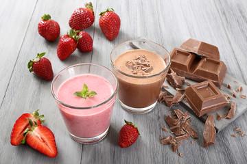 frullato di fragola e cioccolato
