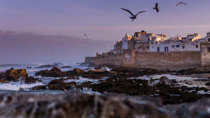 Coast at Essaouira in Morocco