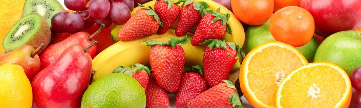 collection fresh fruits