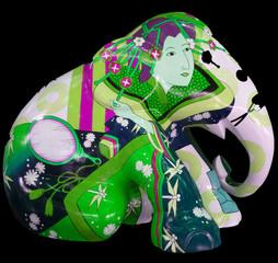 Fotobehang Schilderkunstige Inspiratie abstract elephant sculpture