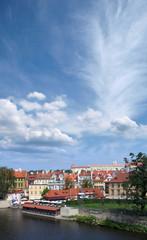 Quiet and peaceful European suburb at summer