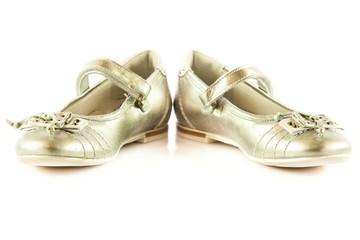 Female  shoes isolated on white background   child kids beautifu