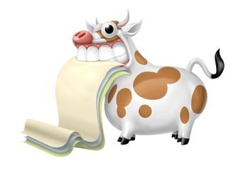 Fototapete - mucca pergamena