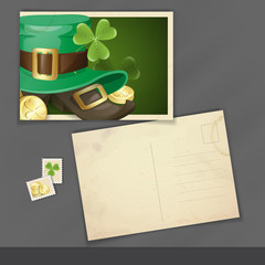 St. Patrick's Day Postcard Design