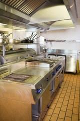 Kitchen in the restaurant
