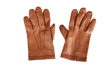 Mens gloves brown