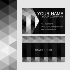 Namecard in triangle style