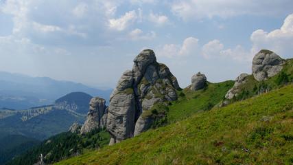 Alpine landscape in Ciucas mountains, Romania.