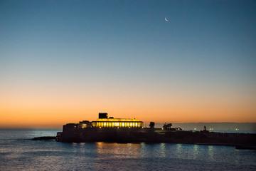 Early morning sunrise sky in Malta.