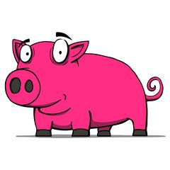 Cute pig cartoon. Vector illustration