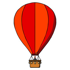 Hot air balloon. Vector illustration