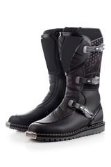 Biker boots for motocross isolated