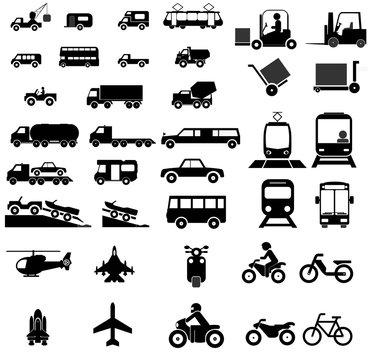 Transports en 42 icônes