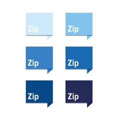 Zip file icon blue