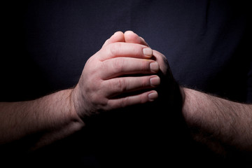 Praying hands closeup