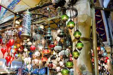 Antique Objects in Turkish Bazaar