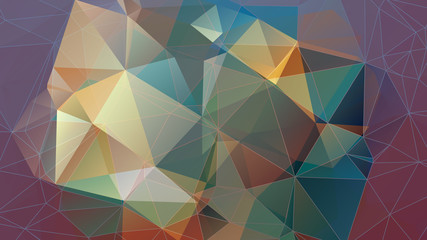 abstract geometric background with gradients stained-glass