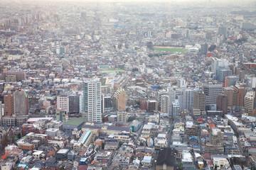 Residential area of Tokyo Japan