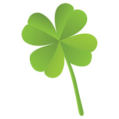 Four leaf clover isolated, St. Patrick's day (vector)