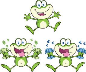 Frog Cartoon Mascot Character 16  Collection Set