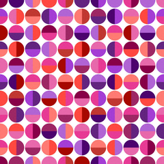 Seamless pattern with colorful geometric shapes