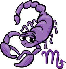scorpio zodiac sign cartoon