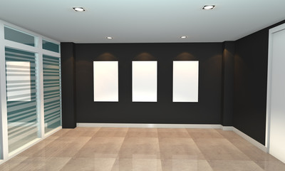 black interior gallery