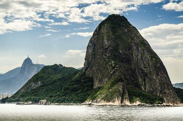 Blick vom Schiff auf den Zuckerhut, Rio, Brasilien