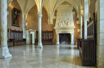 council room in the Amboise castle