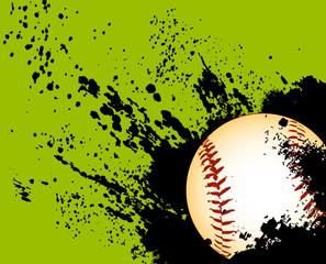 Baseball grunge ball
