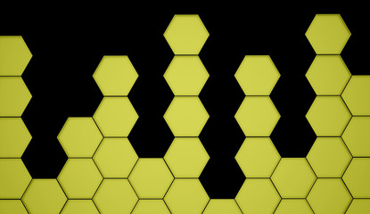 Gold abstract hexagonal background