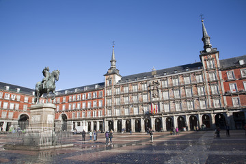 Madrid -  Plaza Mayor in morning