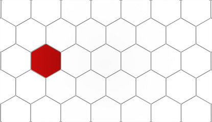 Hexagonal background concept